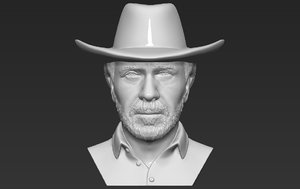 3D chuck norris bust printing
