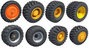 8 road tractor 3D model