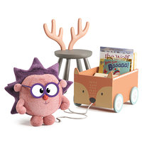 Set of toys and decoration for children's room