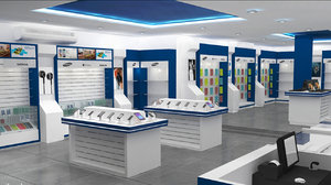mobile store 3D model