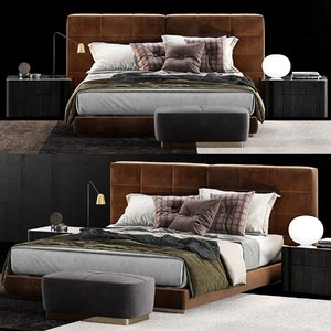 3D model minotti lawrence bed 4