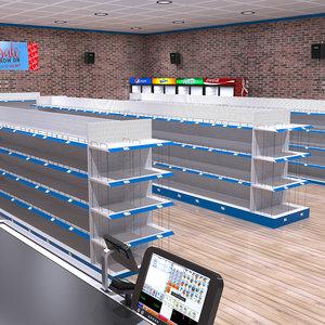 supermarket store 3D model