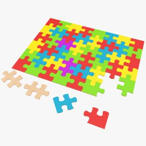 3D real jigsaw puzzle model