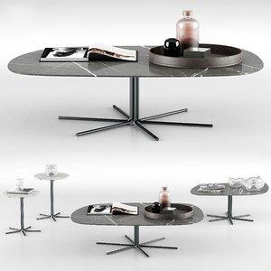 3D model minotti rays coffee tables
