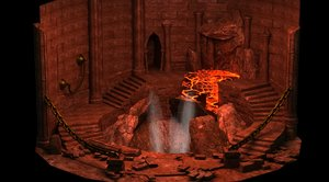 castles lava volcanoes underground 3D model