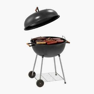 grill barbecue bbq 3D