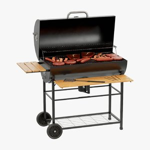 grill barbecue bbq 3D model