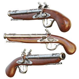 3D ancient gun