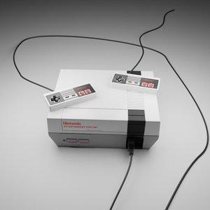 nintendo entertainment home video 3D model