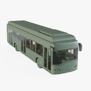 electric bus 3D model