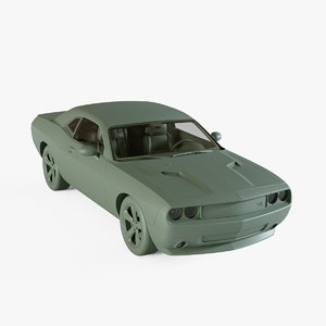 3D dodge challenger rt model