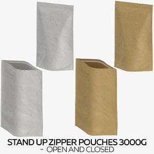 stand zipper pouches 3000g 3D