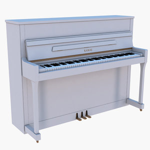 piano music instrument 3D model