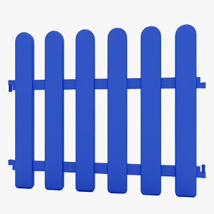 decorative fence 3D
