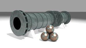 3D shahi cannon ottoman