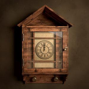 vintage clock lock 3D model