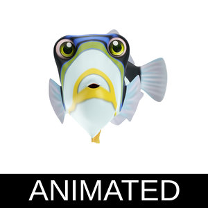 picasso trigger fish toon 3D model