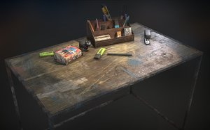 dirty desk accessories model