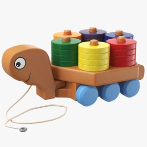 real pull toy 3D model