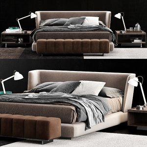 3D minotti creed bed