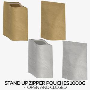 stand zipper pouches 1000g 3D model