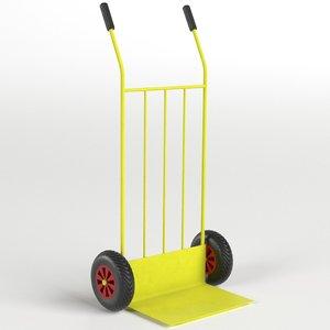 parcel trolley sack truck 3D model