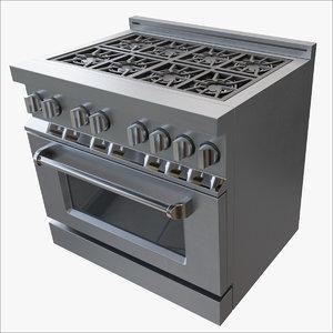 3D kitchen stove model