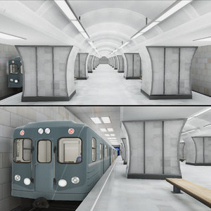 3D model subway station 06