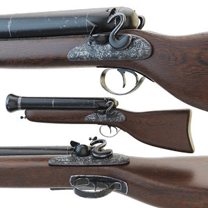 old musket 3D