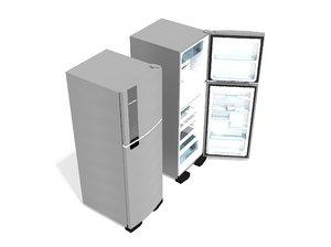 3D model geladeira brastemp 400l -