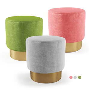 green gray pink 3D model