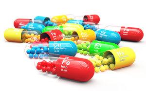 3D pills - capsules model