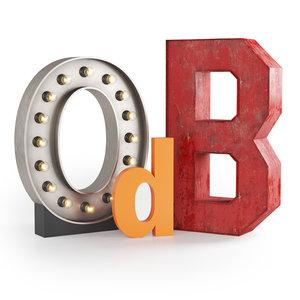 3D model letters decor