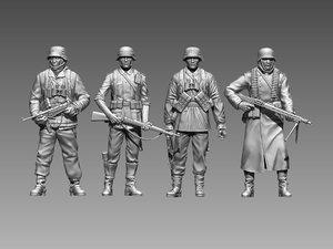 3D model soldier officer