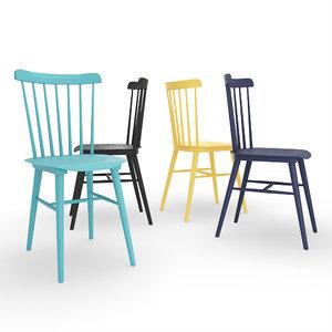 tucker dining chair 3D model