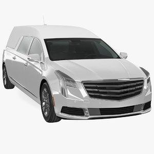 white luxury hearse car 3D model