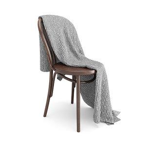 thonet chair moyha blanket 3D model
