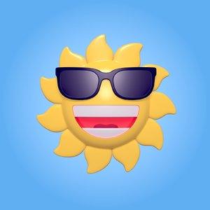 cartoon sun model