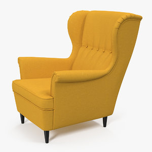 3D strandmon yellow wing chair