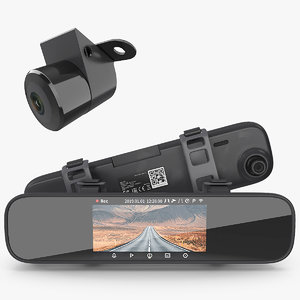 rearview mirror smart cam 3D model