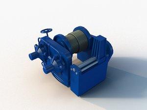 stern winch 3D model