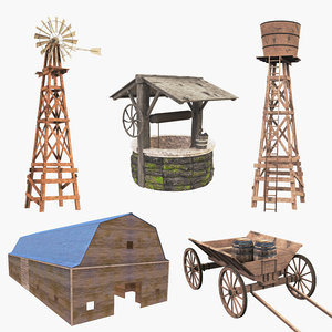 farm old wooden model