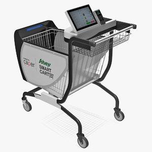 3D model caper smart shopping cart