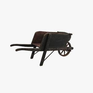3D model wheelbarrow polys