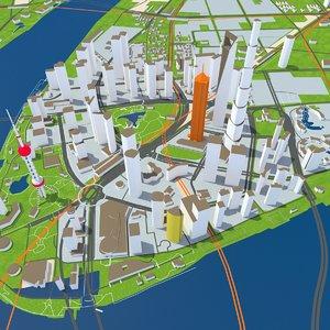 shanghai city 3D model