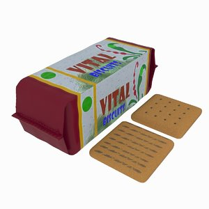 pack biscuits 3D model