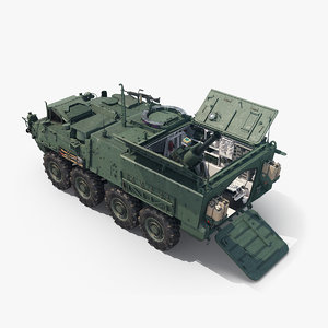 3D stryker m1129 mc military vehicle model