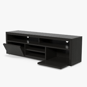 3D tv stand black model