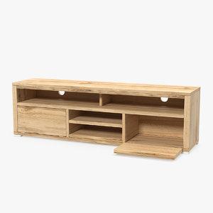 3D wooden tv stand furniture wood model