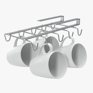 3D shelf mug holder kitchenware